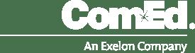 ComEd_Brandmark Logo Short Rule_Mono White-1