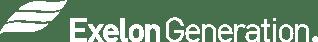 Exelon Generation_Mono White Horizontal Reverse_Logo